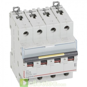 DX3 4P B25 10000A/16KA 409084 Legrand Disjoncteurs PH+N