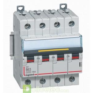 DX3 4P B63 10000A/16KA 409088 Legrand Disjoncteurs PH+N