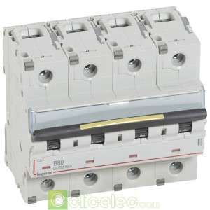 DX3 4P B80 10000A/16KA 409089 Legrand Disjoncteurs PH+N