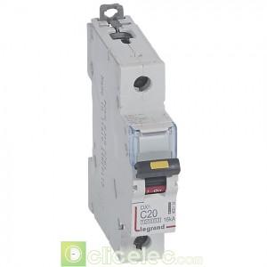 DX3 1P C20 10000A/16KA 409134 Legrand Disjoncteurs PH+N