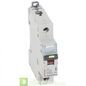 DX3 1P C25 10000A/16KA 409135 Legrand Disjoncteurs PH+N