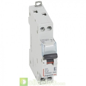 DX3 1P+NG C2 10000A/16KA 1M 409145 Legrand Disjoncteurs PH+N