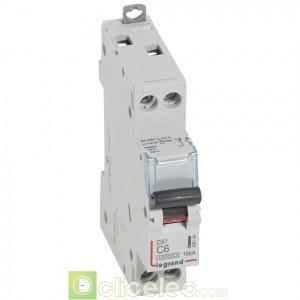 DX3 1P+NG C6 10000A/16KA 1M 409148 Legrand Disjoncteurs PH+N