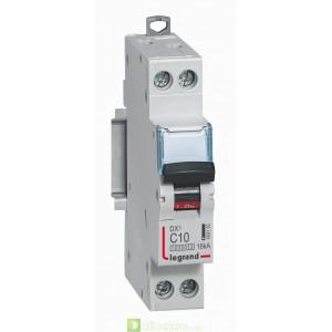 DX3 1P+NG C10 10000A/16KA 1M 409150 Legrand Disjoncteurs PH+N