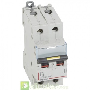 DX3 2P C1 10000A/16KA 409213 Legrand Disjoncteurs PH+N