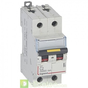 DX3 2P C2 10000A/16KA 409214 Legrand Disjoncteurs PH+N