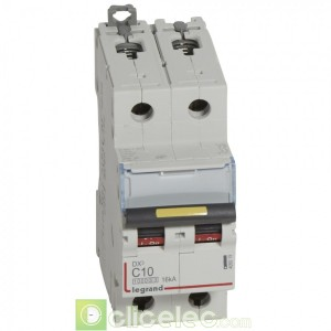 DX3 2P C10 10000A/16KA 409219 Legrand Disjoncteurs PH+N