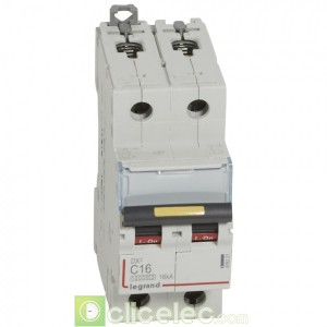 DX3 2P C16 10000A/16KA 409221 Legrand Disjoncteurs PH+N