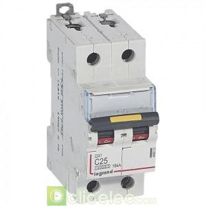 DX3 2P C25 10000A/16KA 409223 Legrand Disjoncteurs PH+N