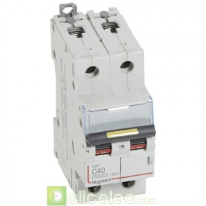DX3 2P C40 10000A/16KA 409225 Legrand Disjoncteurs PH+N