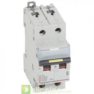 DX3 2P C63 10000A/16KA 409227 Legrand Disjoncteurs PH+N