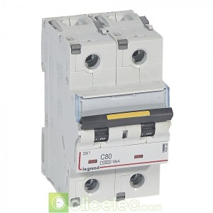 DX3 2P C80 10000A/16KA 409228 Legrand Disjoncteurs PH+N
