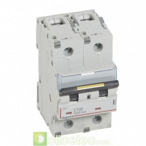 DX3 2P C100 10000A/16KA 409229 Legrand Disjoncteurs PH+N
