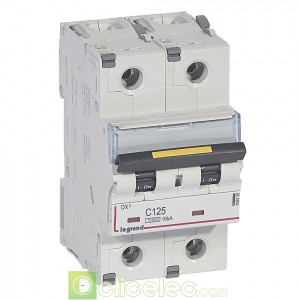 DX3 2P C125 10000A/16KA 409230 Legrand Disjoncteurs PH+N
