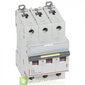DX3 3P C6 10000A/16KA 409269 Legrand Disjoncteurs PH+N