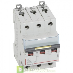 DX3 3P C10 10000A/16KA 409271 Legrand Disjoncteurs PH+N