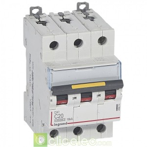 DX3 3P C20 10000A/16KA 409274 Legrand Disjoncteurs PH+N