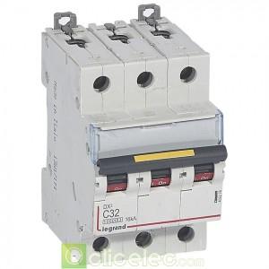 DX3 3P C32 10000A/16KA 409276 Legrand Disjoncteurs PH+N