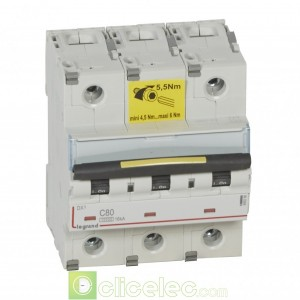 DX3 3P C80 10000A/16KA 409280 Legrand Disjoncteurs PH+N