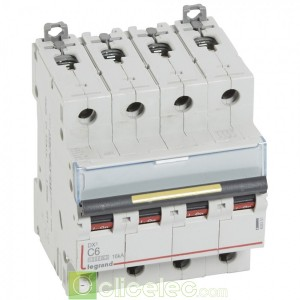 DX3 4P C6 10000A/16KA 409351 Legrand Disjoncteurs PH+N