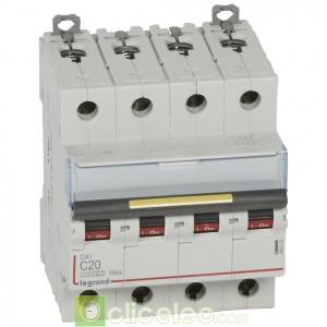 DX3 4P C20 10000A/16KA 409356 Legrand Disjoncteurs PH+N