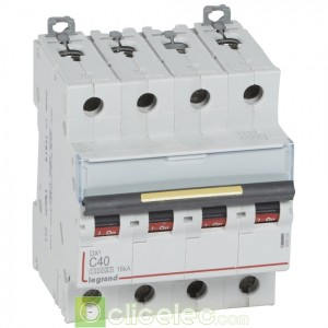 DX3 4P C40 10000A/16KA 409359 Legrand Disjoncteurs PH+N