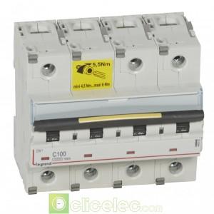 DX3 4P C100 10000A/16KA 409363 Legrand Disjoncteurs PH+N