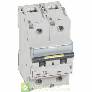 DX3 2P D80 10000A/16KA 409458 Legrand Disjoncteurs PH+N