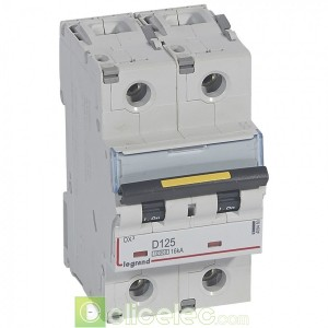DX3 2P D125 10000A/16KA 409460 Legrand Disjoncteurs PH+N