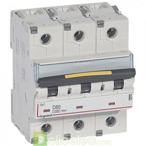 DX3 3P D80 10000A/16KA 409506 Legrand Disjoncteurs PH+N