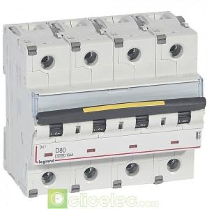 DX3 4P D80 10000A/16KA 409540 Legrand Disjoncteurs PH+N