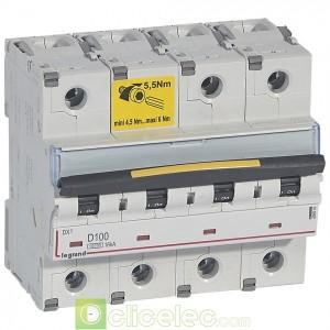 DX3 4P D100 10000A/16KA 409541 Legrand Disjoncteurs PH+N