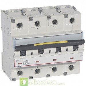 DX3 4P D125 10000A/16KA 409542 Legrand Disjoncteurs PH+N