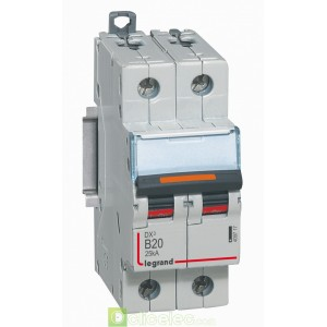 DX3 2P B20 25KA 409717 Legrand Disjoncteurs PH+N