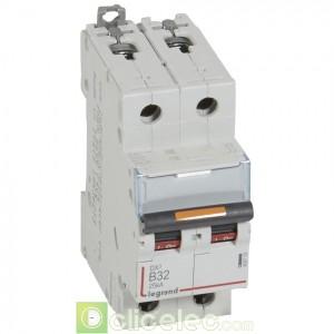DX3 2P B32 25KA 409719 Legrand Disjoncteurs PH+N