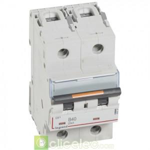 DX3 2P B40 25KA 409720 Legrand Disjoncteurs PH+N