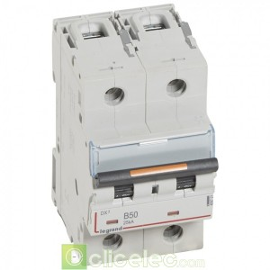 DX3 2P B50 25KA 409721 Legrand Disjoncteurs PH+N