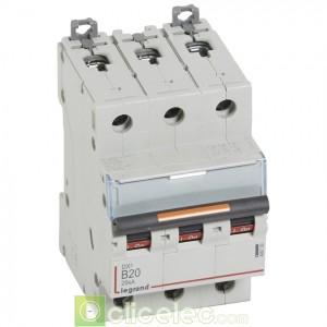 DX3 3P B20 25KA 409730 Legrand Disjoncteurs PH+N