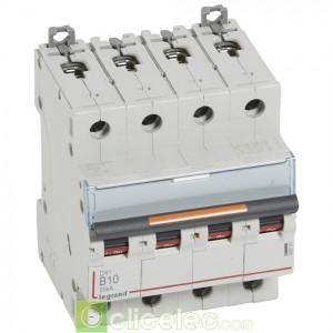 DX3 4P B10 25KA 409741 Legrand Disjoncteurs PH+N