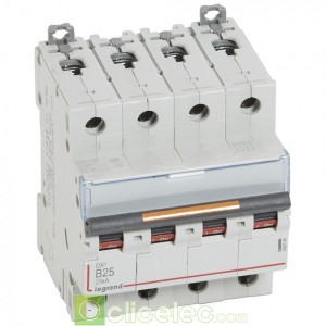 DX3 4P B25 25KA 409744 Legrand Disjoncteurs PH+N