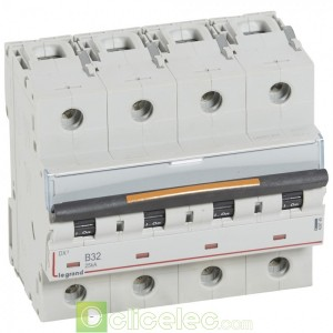 DX3 4P B32 25KA 409745 Legrand Disjoncteurs PH+N