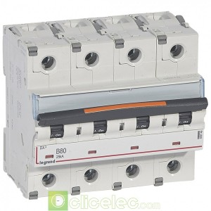 DX3 4P B80 25KA 409749 Legrand Disjoncteurs PH+N