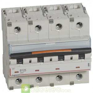 DX3 4P B125 25KA 409751 Legrand Disjoncteurs PH+N