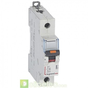 DX3 1P C6 25KA 409753 Legrand Disjoncteurs PH+N