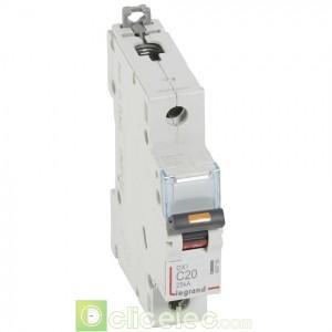 DX3 1P C20 25KA 409756 Legrand Disjoncteurs PH+N