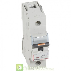DX3 1P C40 25KA 409759 Legrand Disjoncteurs PH+N