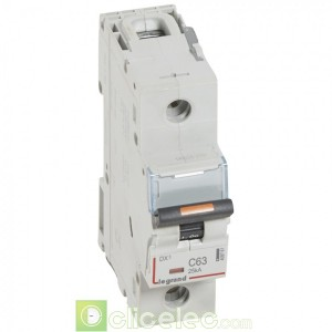 DX3 1P C63 25KA 409761 Legrand Disjoncteurs PH+N