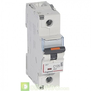 DX3 1P C125 25KA 409764 Legrand Disjoncteurs PH+N