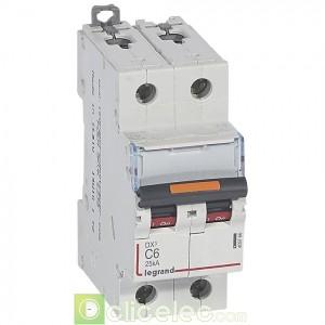 DX3 2P C6 25KA 409766 Legrand Disjoncteurs PH+N