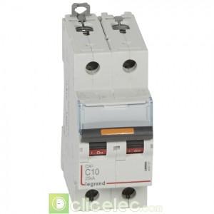 DX3 2P C10 25KA 409767 Legrand Disjoncteurs PH+N